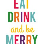 eat drink merry- multicolor- 8x10