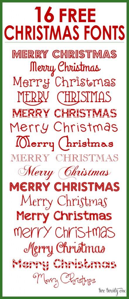 Free christmas fonts 441x1024