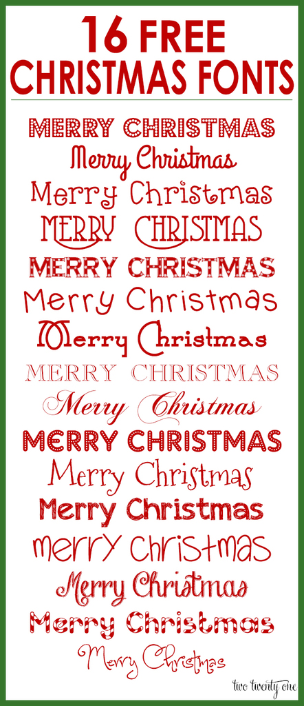 Free Christmas Fonts on Latest Writing In Cursive