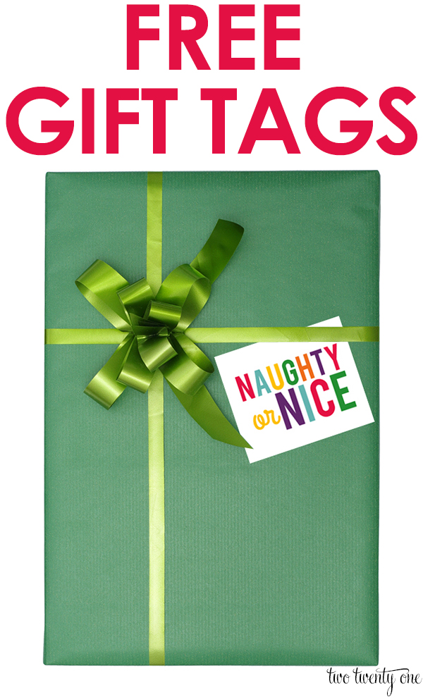 FREE Christmas gift tags!  6 different styles!