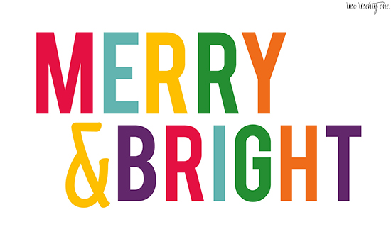 merry and bright wallpaper 550px