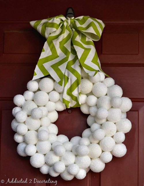 snowball wreath by Addicted 2 Decorating