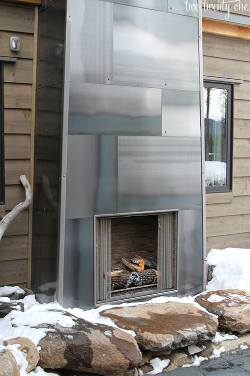 HGTV Dream Home outdoor fireplace