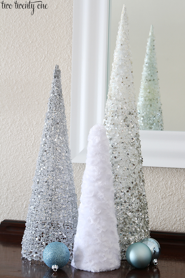 fuzzy christmas tree cones