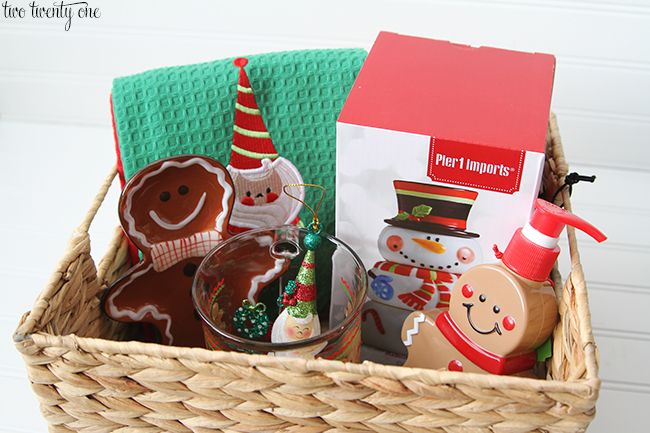 gingerbread man basket