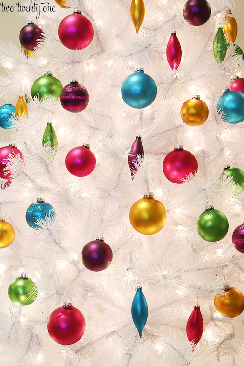 jewel tone ornaments