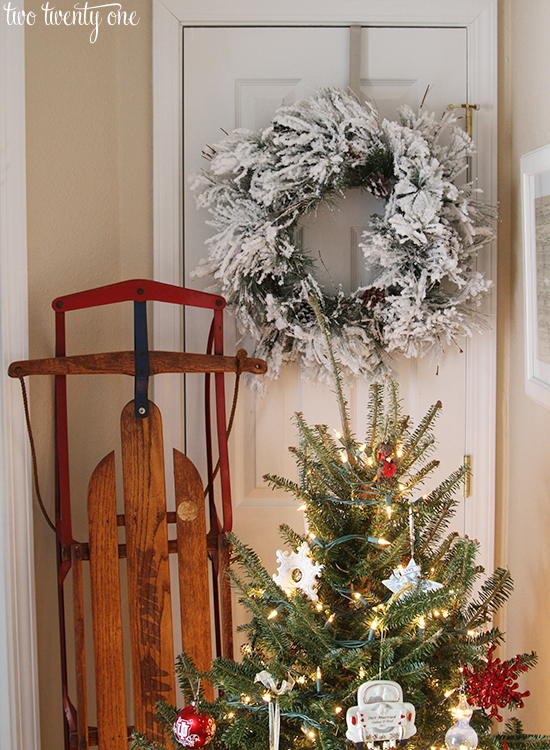traditional christmas entryway