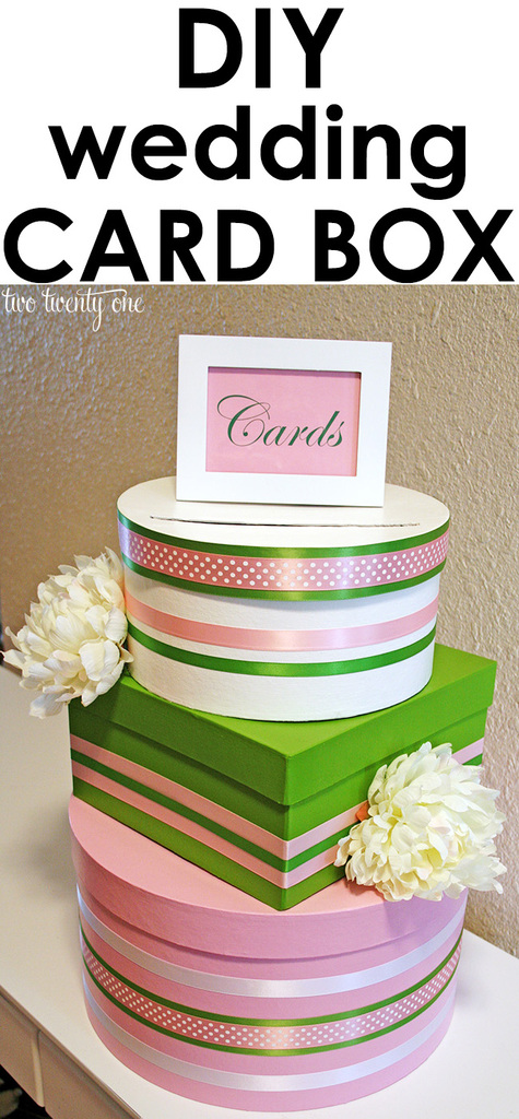 Stacked Wedding Card Box Diy Wedding Card Box