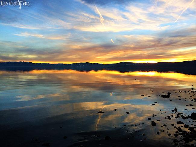 Lake Tahoe sunset 2013