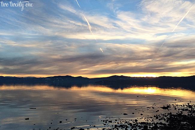Lake Tahoe sunset December 2013