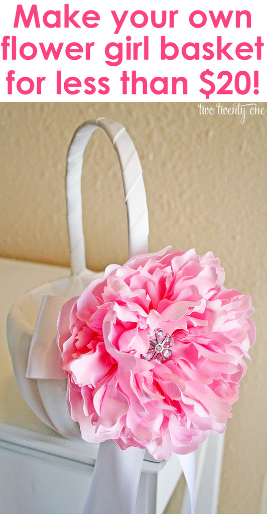 Make your own custom flower girl basket for less than $20!