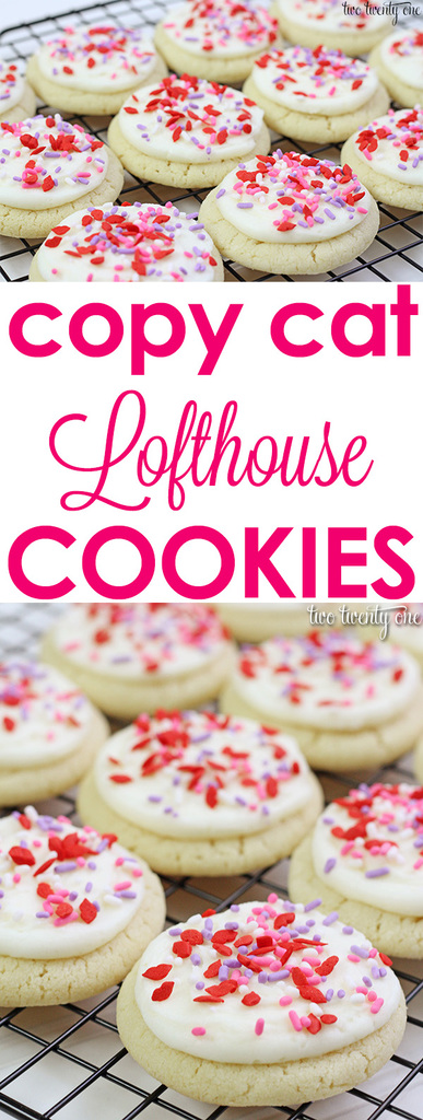 Copy cat Lofthouse cookies! The softest, pillowy sugar cookies!