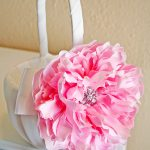 flower girl basket with peony