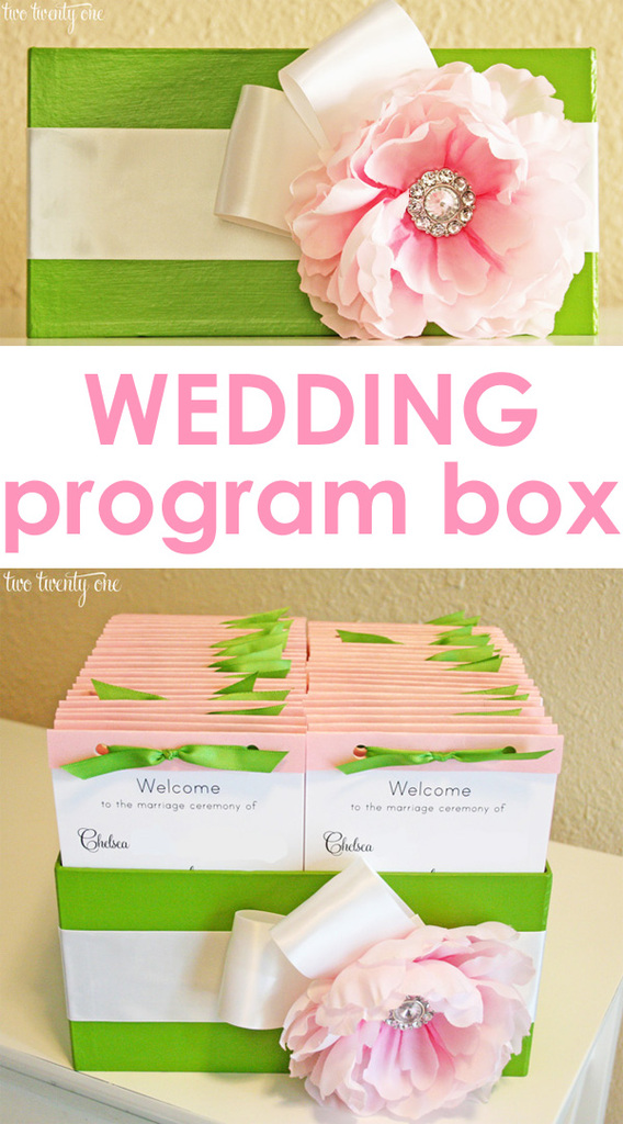 wedding program box
