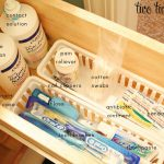 oranized guest bathroom drawers