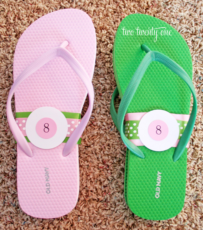 Wedding Reception Flip Flop Basket