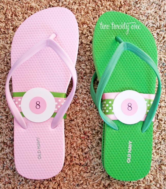 reception flip flops