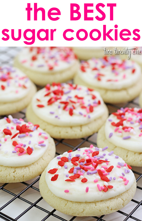 The BEST and easiest sugar cookies! No rolling and cutting necessary!