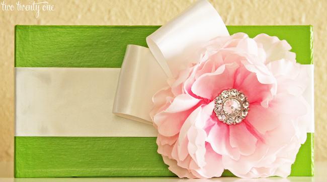 wedding program box