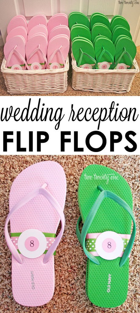 76e62927c5cf2c A treat for your guests  feet-- wedding reception flip flops!