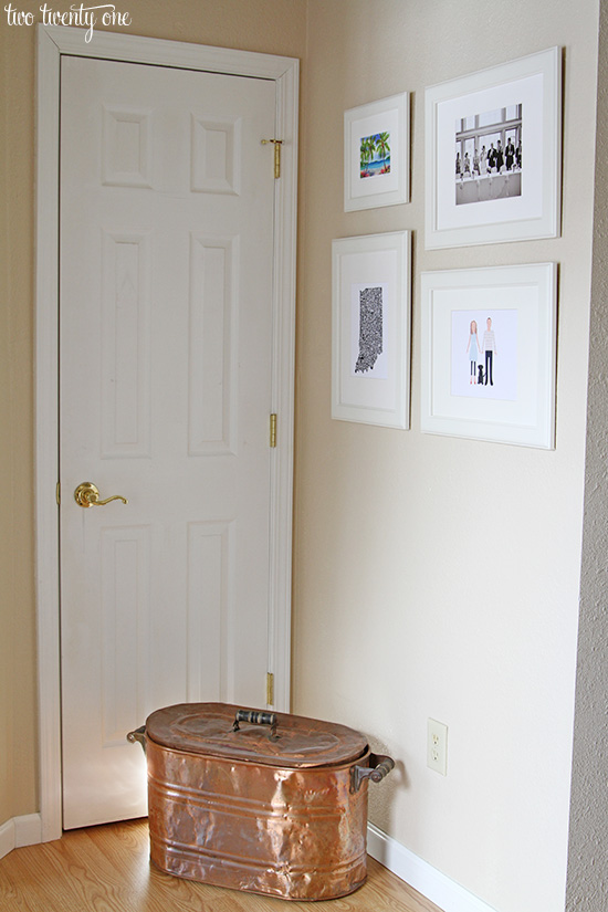 entryway photo wall