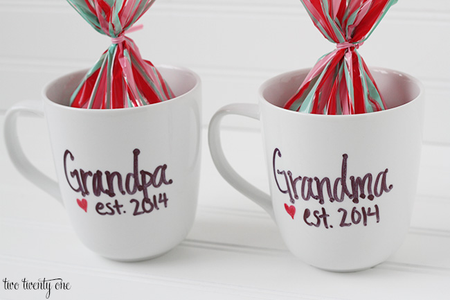 pregnancy announcement mugs
