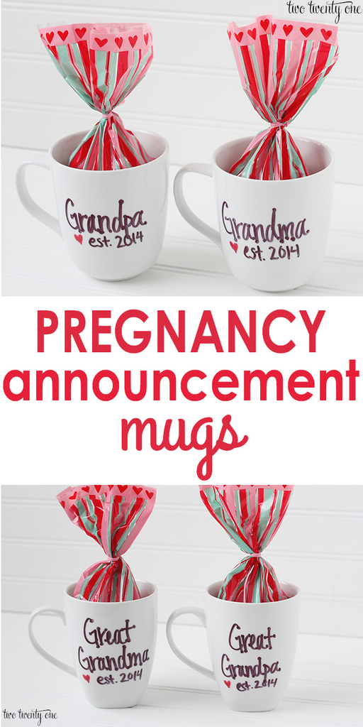 Pregnancy Announcement Mugs Video of Reactions – Grandparents Announcement Baby