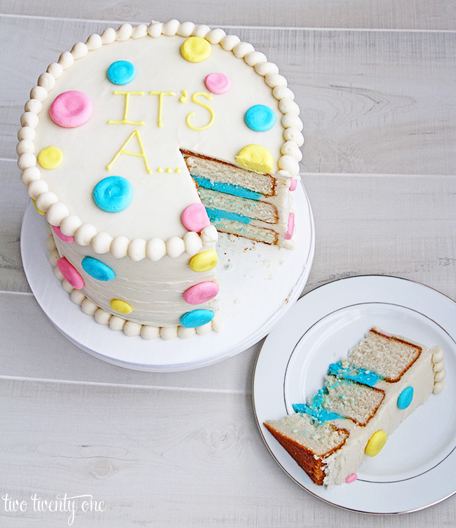 Gender Reveal Cake Cake by Sugarlicous CakesDecor
