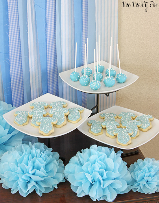 gender reveal party dessert bar