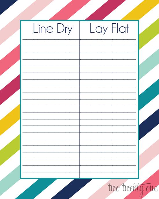 laundry drying document