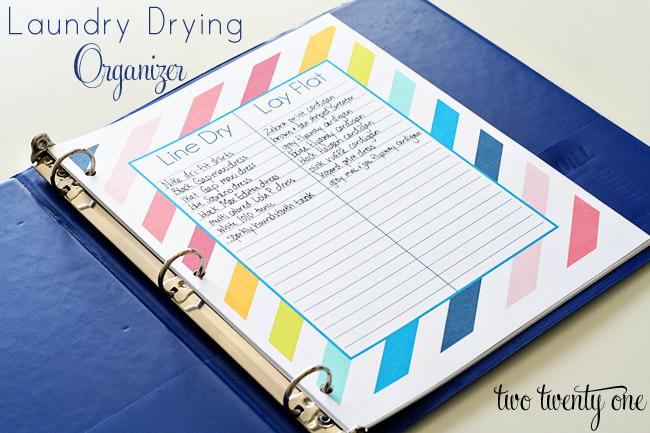 laundry drying organizer