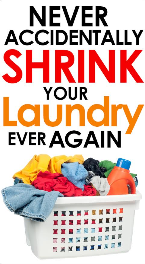 Never accidentally shrink your laundry again!  Genius simple tip!