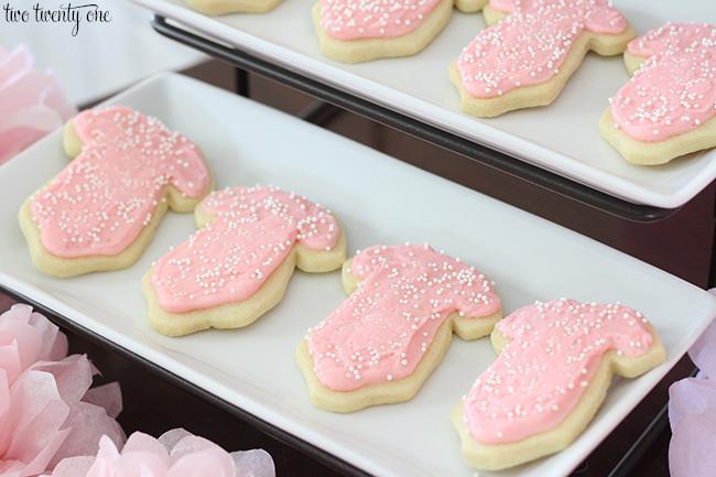 onesie cut out cookies