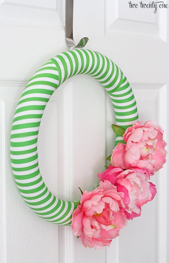 preppy wreath