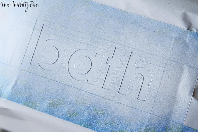 bath stencil