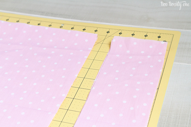 cutting fabric for fabric garland