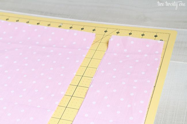 cutting fabric for fabric garland