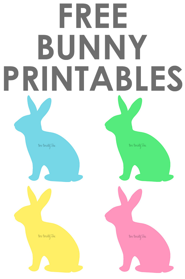FREE 8x10 bunny printables!  Great for spring and Easter!