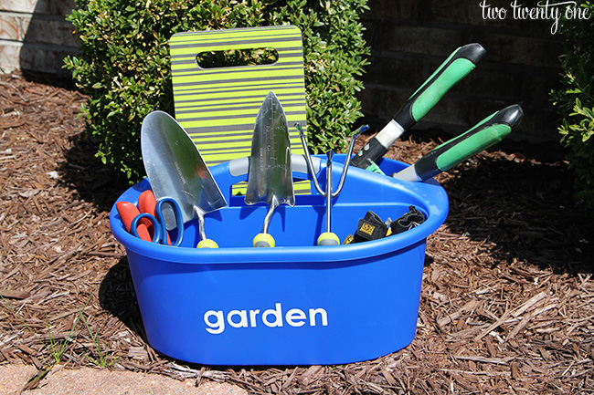 Organized Cleaning And Gardening Caddies