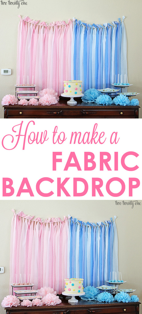 How to make a fabric backdrop!