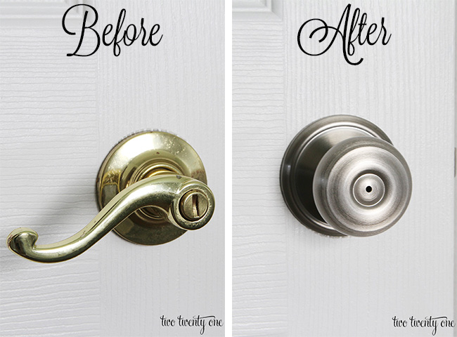 How To Spray Paint Interior Door Handles