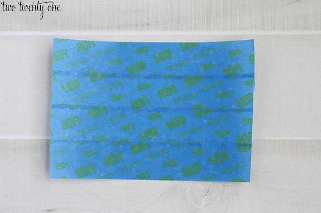 painters tape stencil