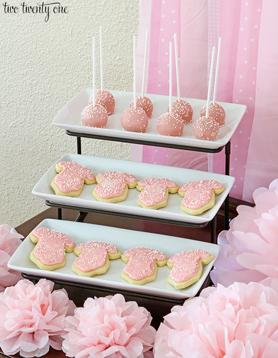 pink gender reveal dessert bar