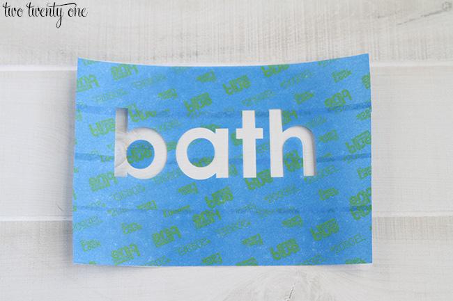 scotchblue painters tape stencil