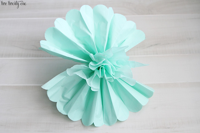 tissue paper pom pom instructions