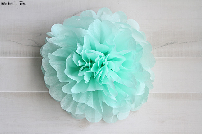 tissue pom pom instructions