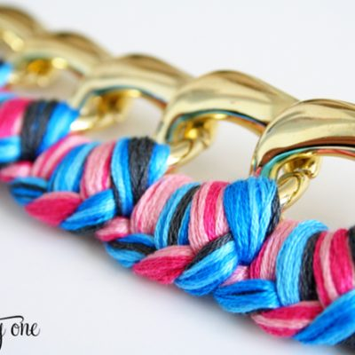 Braided Chain Bracelet {How to Make a Bracelet}