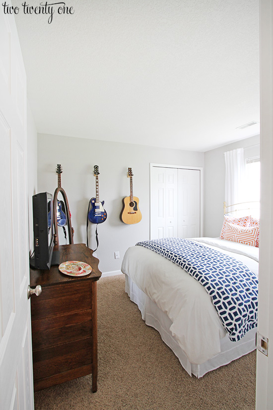 bright guest bedroom