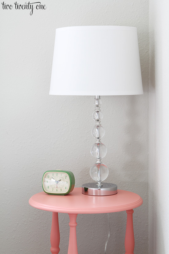 coral pink nightstand
