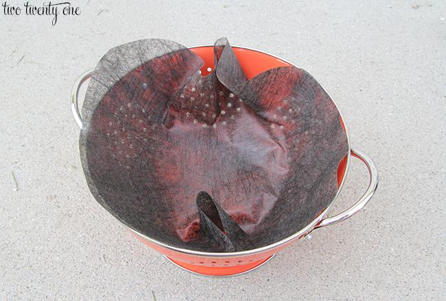 how to make a colander flower planter